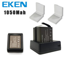 EKEN 2pcs/set 3.7V PG 1050mAh Battery for EKEN SJCAM Action Camera h9r h8r h6s h5s H3r C30 F68 SJ4000 with Dual Battery Charger(China)