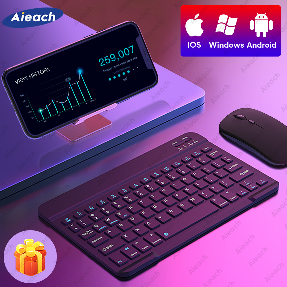 Keyboard and Mouse For Phone Smartphone iOS Android Windows Wireless Bluetooth Keyboard For Tablet iPad Laptop PC Computer