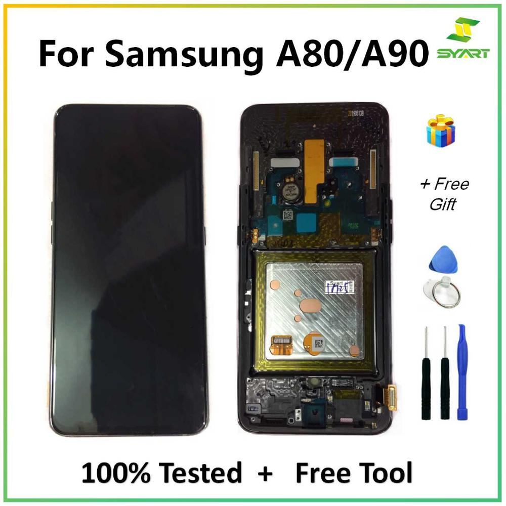 AMOLED For <font><b>Samsung</b></font> <font><b>Galaxy</b></font> <font><b>A80</b></font> / A90 SM-A805F/DS A905F SM-A90 <font><b>LCD</b></font> Display Touch Screen Digitizer Assembly <font><b>LCD</b></font> For <font><b>Galaxy</b></font> A90 A805 image