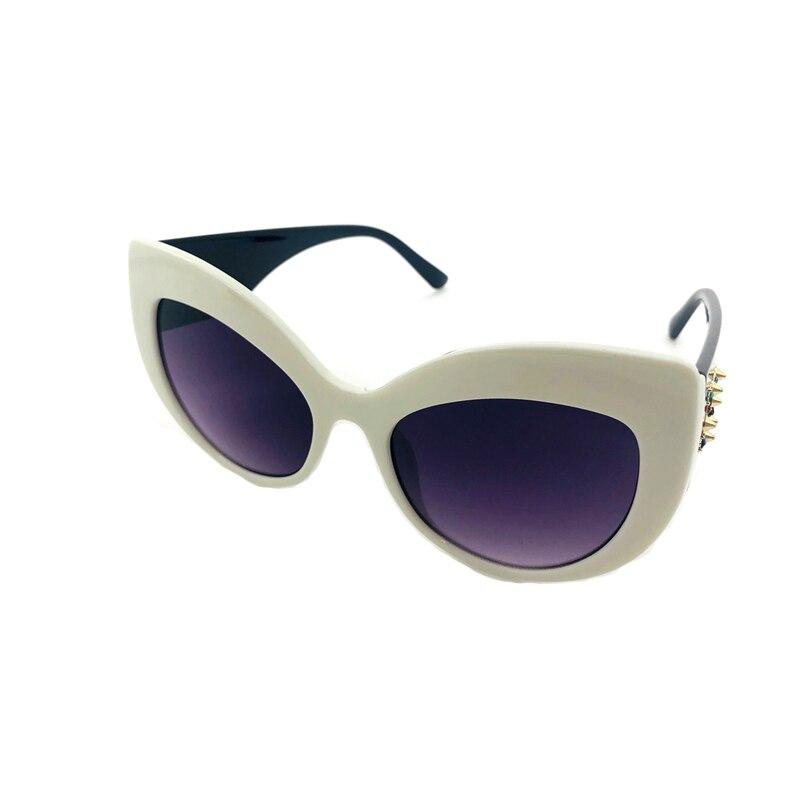 2019 New Fashion Cat Eye Sunglasses Vintage Retro Women Wide Leg Brand Designe Diamond D Sun Glasses Female Black Shades UV400