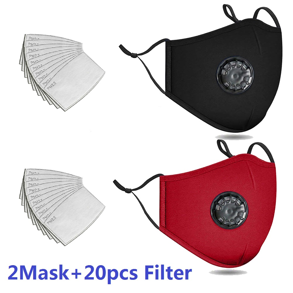 20 PCS Activated Carbon Filter Washable Reusable Cotton Dust-Proof Sports Bibs Running Cycling Dust Filter Shipping To USA