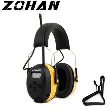 Fryzjerem cyfrowy AM/FM Stereo Radio nauszniki NRR 24dB ochrona słuchu do koszenia, profesjonalnego ochronników słuchu słuchawki Radio