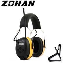 ZOHAN Digital AM/FM Stereo Radio Ear Muffs NRR 24dB Ear Protection for Mowing Professional Hearing Protector Radio Headphone