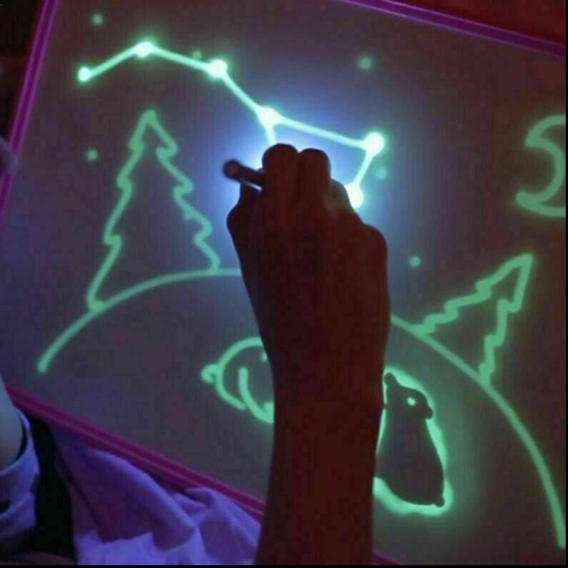 A5/A4/A3 LED Light Fluorescent Drawing Message Writing Board Children Toys Gift