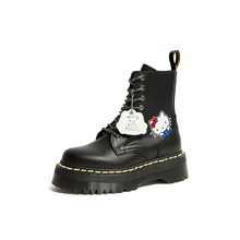 Women Martin boots Martens Jadon X Kitty Cat Genuine leather Thick soled Heightening boots Punk Motorcycle Boots  Cartoon
