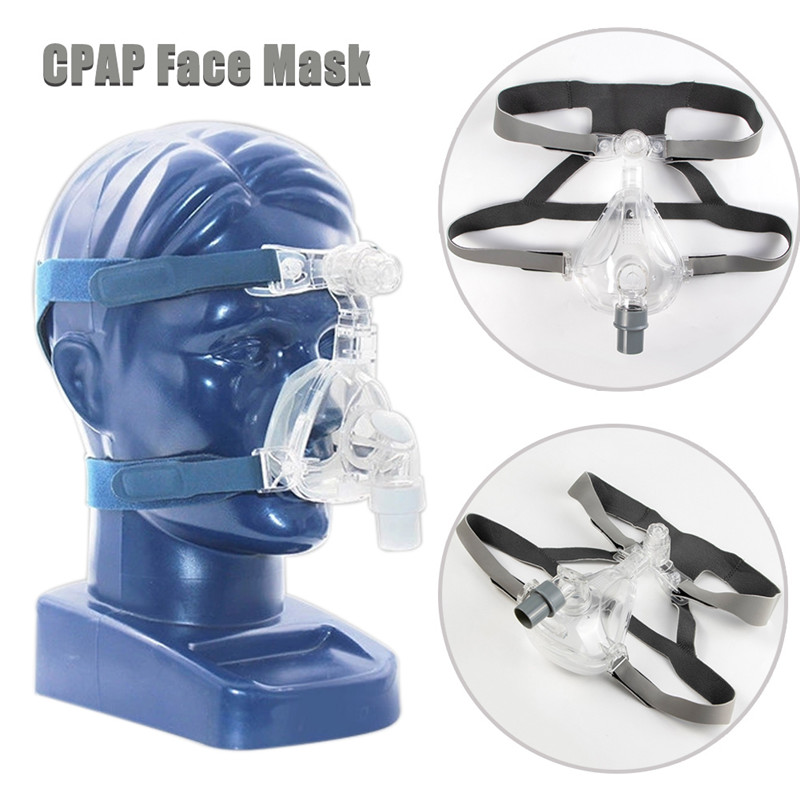 Full Face CPAP Mask Auto with Adjustable Headgear Strap Clip for Sleep Apnea Patient 45