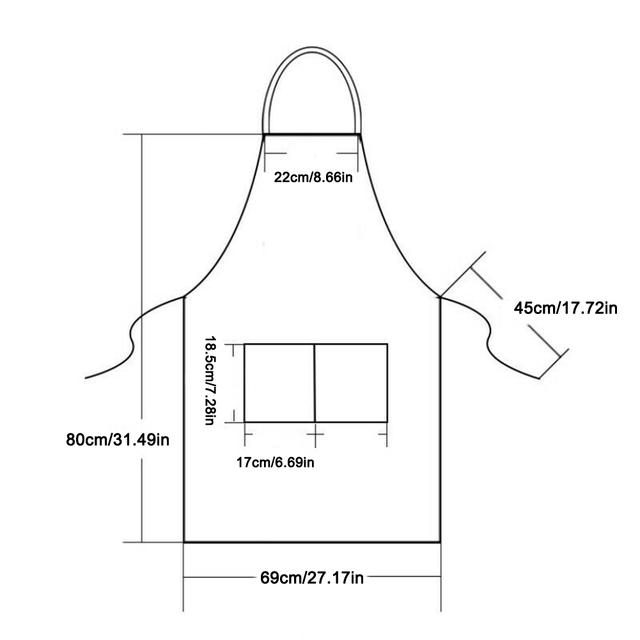 Pure Color Adjustable Shoulder Strap Kitchen Apron Waterproof And Antifouling Bib For Kitchen Baking Barbecue Cooking 6