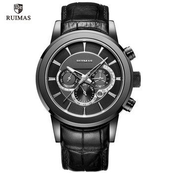 RUIMAS Men's Leather Chronograph 6767