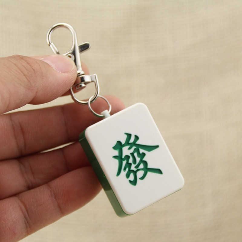 Creativo USB Elettrico Più Leggero Ricaricabile Turbo Mahjong Portachiavi Antivento In Metallo Plasma Accendino Per La Sigaretta Gadget Per Gli Uomini