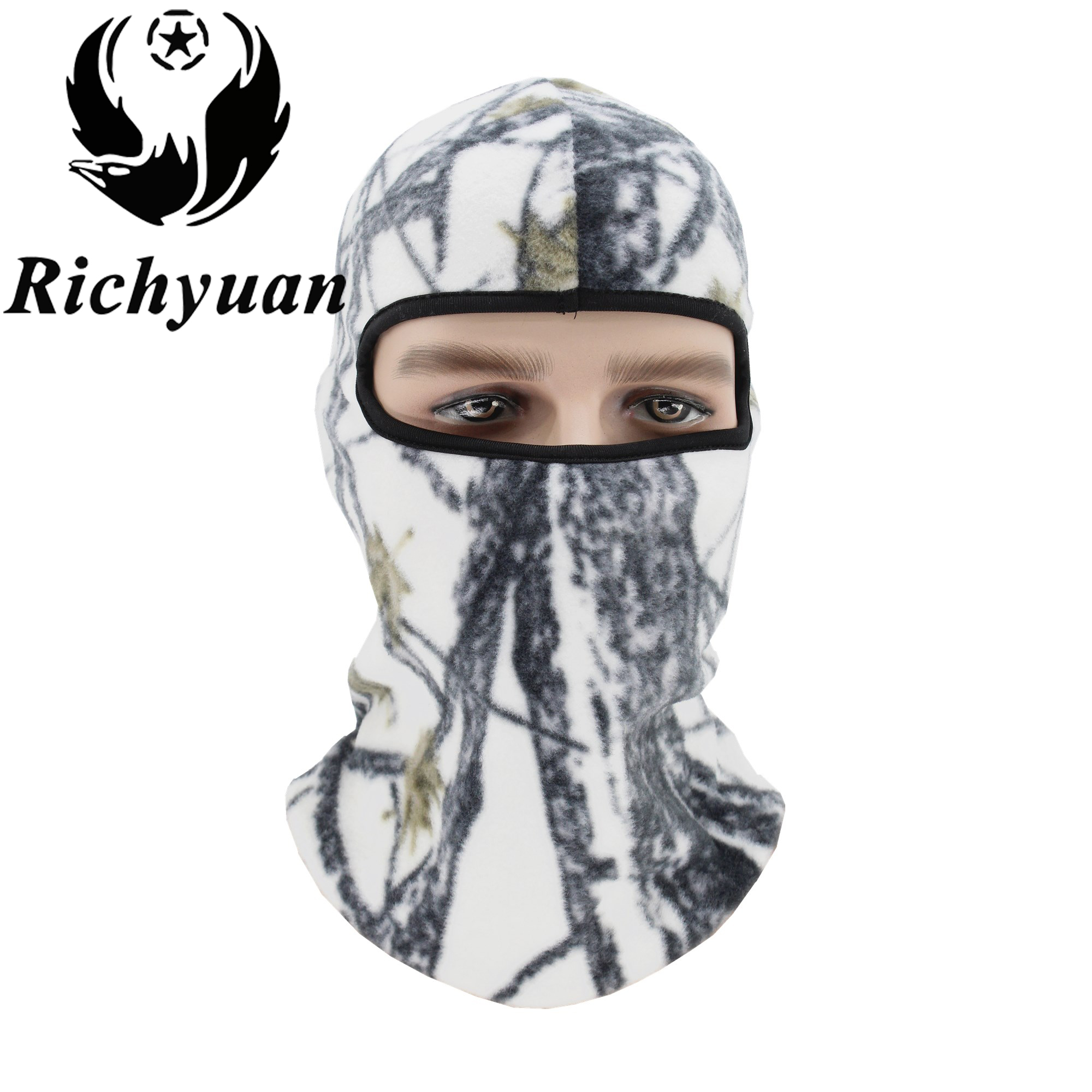 Winter Warm Fleece   Beanies   Hats for Men Camouflage Bandana Neck Warmer Balaclava Face Mask Wargame Special Forces Mask