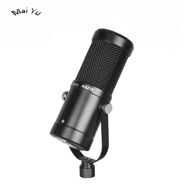 Profesjonalny komputer telefon komórkowy transmisja na żywo mikrofon pojemnościowy na pokaz na żywo kotwica w domu nagrywanie wideo Karaoke Microfone