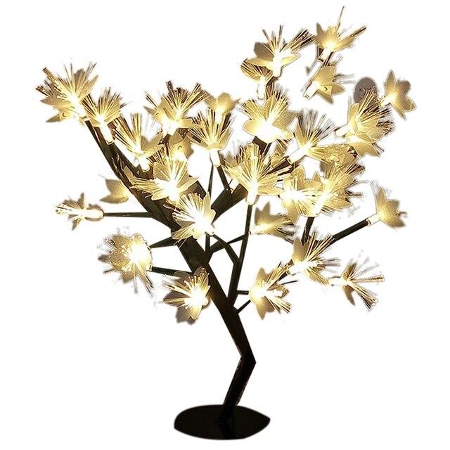 Promotion! LED saule branche lampe à piles Simulation orchidée branche lumineuse Vase remplissage fleur branche fée guirlande lumineuse (E 2