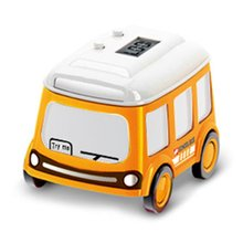 Mini Alloy Bus/Taxi Style Model Pull Back Car Watch Toy Watch