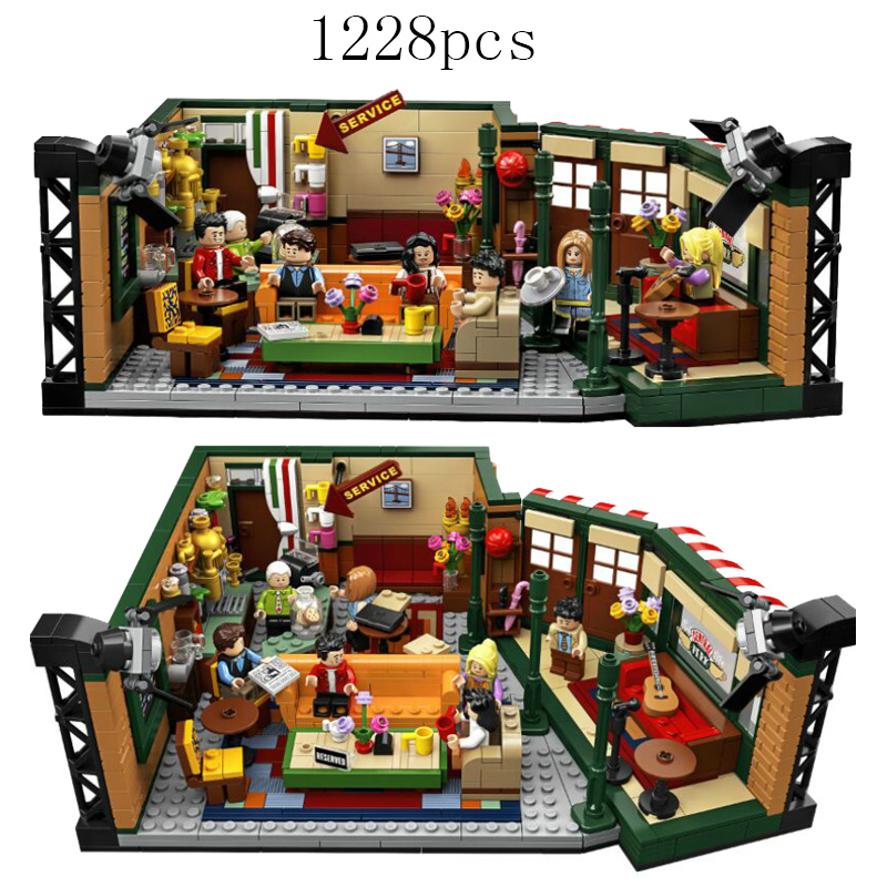 New Movies Series Bricks Friends Central Perk Compatible Legoinglys Ideas 21319 Building Blocks Toys For Children Birthday Gift
