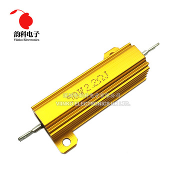 50W Aluminum Power Metal Shell Case Wirewound Resistor 0.01 ~ 100K 0.05 0.1 0.5 1 1.5 2 6 8 10 20 100 150 200 300 500 1K 10K ohm - discount item  5% OFF Passive Components