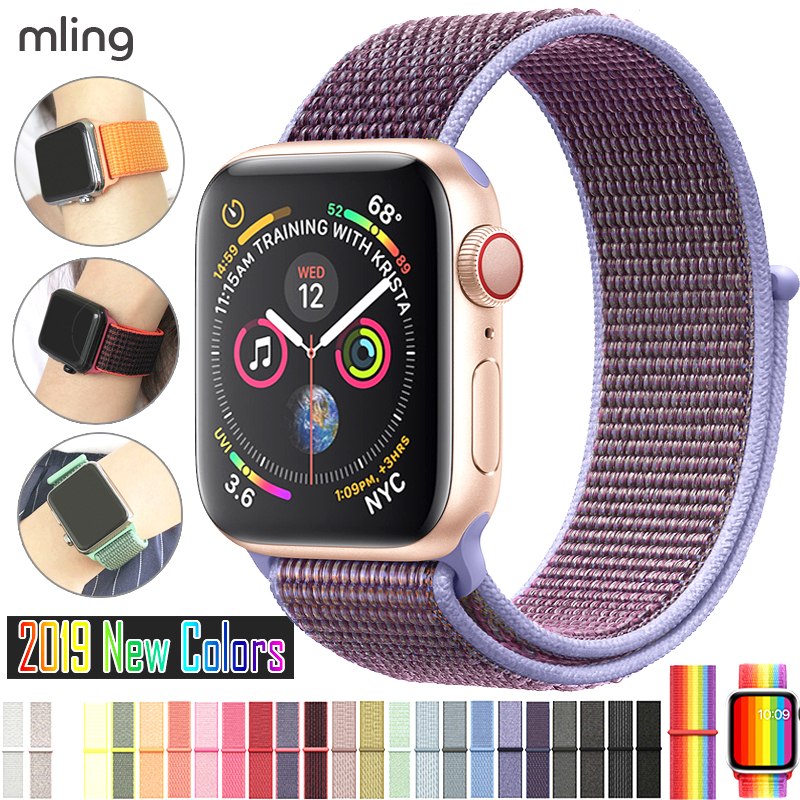 For Apple Watch Band 3/2/1 38MM 42MM Nylon Soft Breathable Nylon For IWatch Replacement Band Sport Loop Series4/5 40mm 44mm