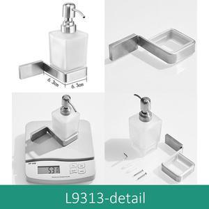 Image 2 - ห้องน้ำ Liquid SOAP Dispenser ติดผนัง 304 สแตนเลสแปรง Bickel สำเร็จรูปแชมพูสบู่ ML9313