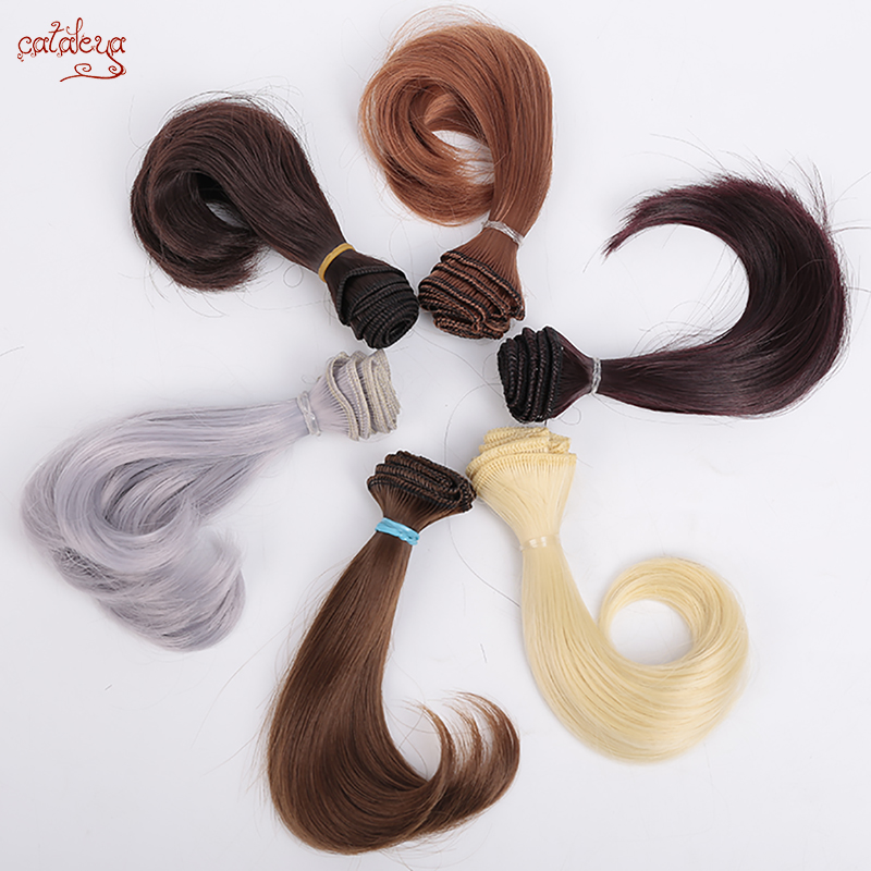 Cataleya AD SD DIY Doll Hair Bjd High Temperature Silk Wig Hair Curly Doll Tress Wigs 15cm*100cm Hair For Dolls