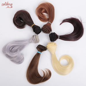 Cataleya AD SD DIY doll hair bjd high temperature silk wig hair curly doll tress wigs 15cm*100cm hair for dolls(China)