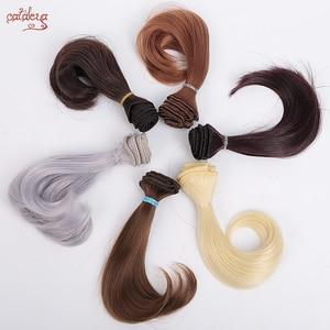 Cataleya AD SD DIY doll hair bjd high temperature silk wig hair curly doll tress wigs 15cm*100cm hair for dolls(China)