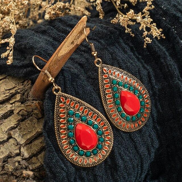 fashion earrings 2019 gold indian jewelry vintage Ethnic boho tassel long Drop Earrings for Women bride.jpg 640x640 - fashion earrings 2019 gold indian jewelry vintage Ethnic boho tassel long Drop Earrings for Women bride girl jewelry accessories