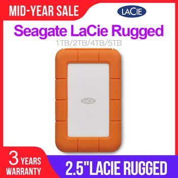 Seagate LaCie Rugged 1TB 2TB 4TB 5TB USB-C and USB 3.0  Portable Hard Drive 2.5