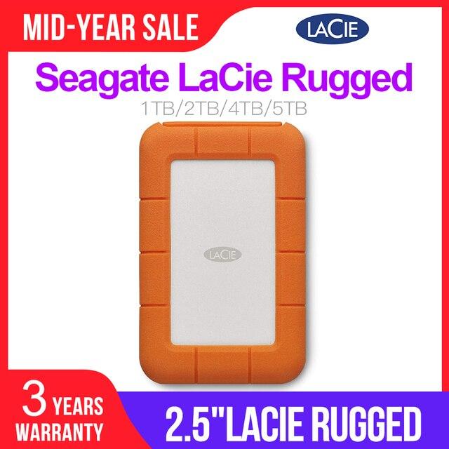 """Seagate LaCie Rugged 1TB 2TB 4TB 5TB USB C i USB 3.0 przenośny dysk twardy 2.5 """"zewnętrzny dysk twardy na PC Laptop"""