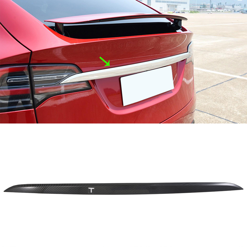 Steel Trunk Tailgate Strip Trims Molding Accessories For Tesla Model 3