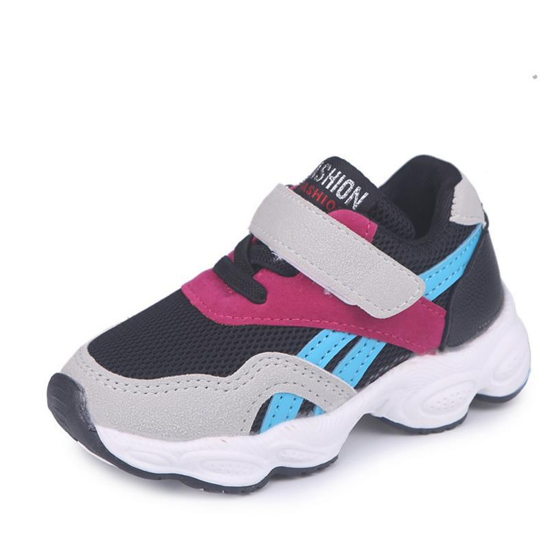 Children Sports Shoes Boys Girls Spring Damping Outsole Slip Patchwork Breathable Kids Sneakers Child Running Shoe