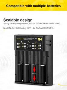 Image 2 - Voxlink 18650 carregador de bateria 5v2a com cabo usb carregamento rápido 26650 18350 21700 26500 22650 li ion recarregável carregador de bateria