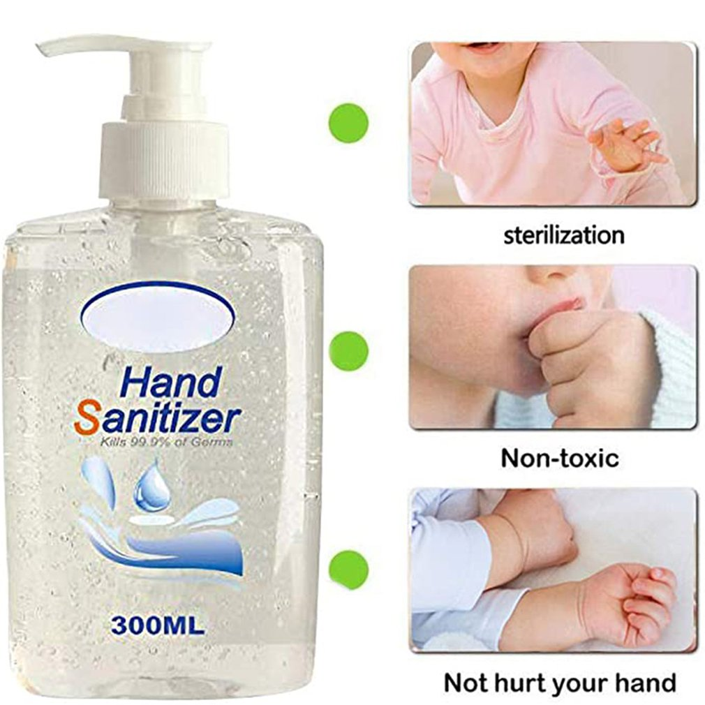 300ml Disposable 75% Alcohol Portable Hand Sanitizer Liquid Soap Lotion Detergent For Travel Neutral / Outdoor Cleansing