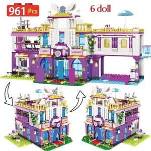 Building-Blocks House-Toys Castle-Bricks Legoinglys-Friends Girls NEW Princess for 961PCS
