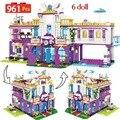 Новинка 961 шт. Частная роскошная вилла строительные блоки Совместимые с Legoinglys друзья замок кирпичи для девочек дом принцессы игрушки для де...