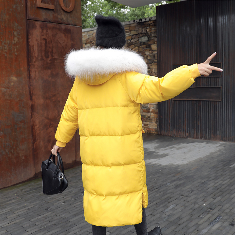Winter Duck Down Jacket Women Long Down Coat Female Thick Slim Jackets Clothes Ladies Large Fur Hooded Warm Coats 1351315