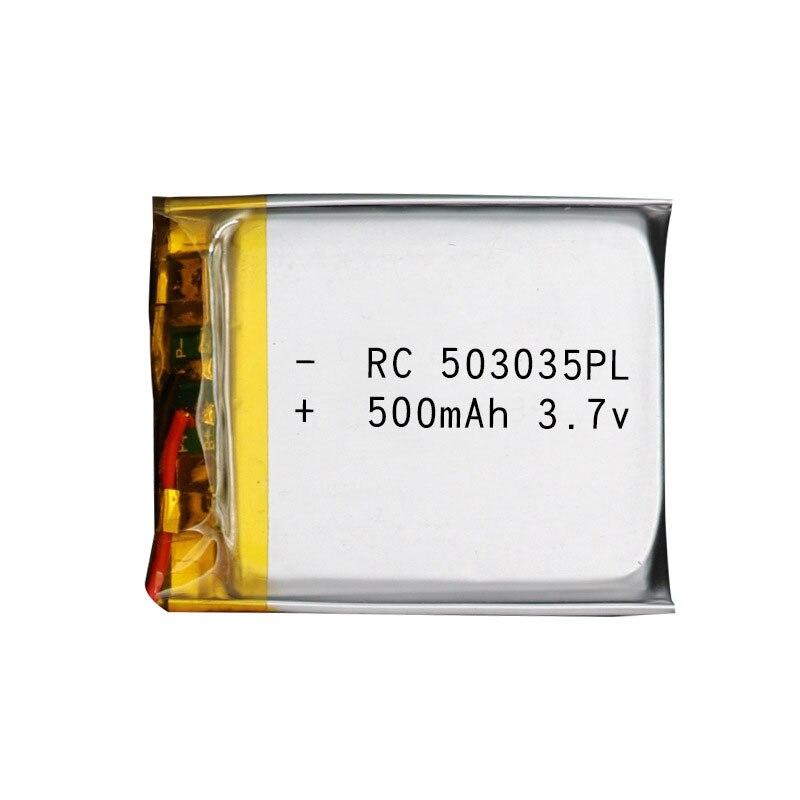 Baterias recarregáveis do lipo do íon de li po da bateria do polímero do lítio de 503035 3.7v 500mah para a navegação de mp3 gps dvd