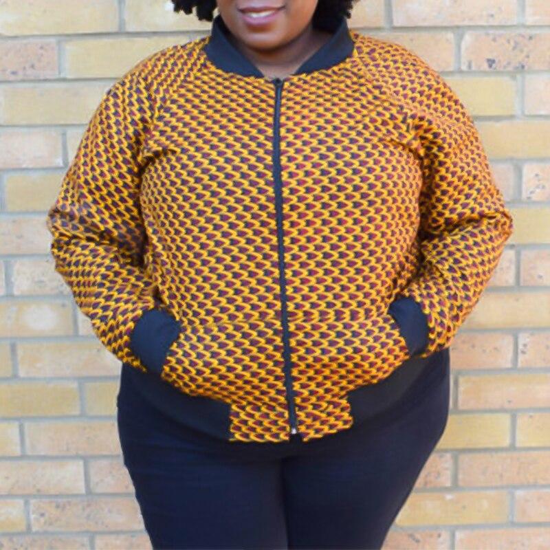 African Dashiki Bomber Jacket Women Fashion Clothes Ankara Wax Jacket African Bomber Jacket Cotton Autumn Winter Clothes Jacket