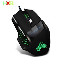 HXB Gaming Mouse Gamer PC Mouse USB Wired Vertical Ergonomic Mause 7 Button 5500 DPI LED Optical Mice For PC Laptop E-Sports LOL