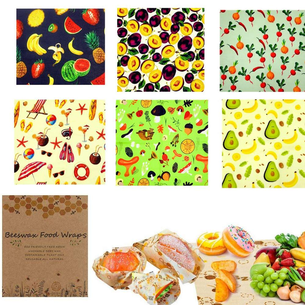 Zero Waste Reusable Food Wraps Sustainable Organic Bees Wax Lid Cover Wrap Food Storage Eco Friendly Sandwich Fruit Beeswax Wrap