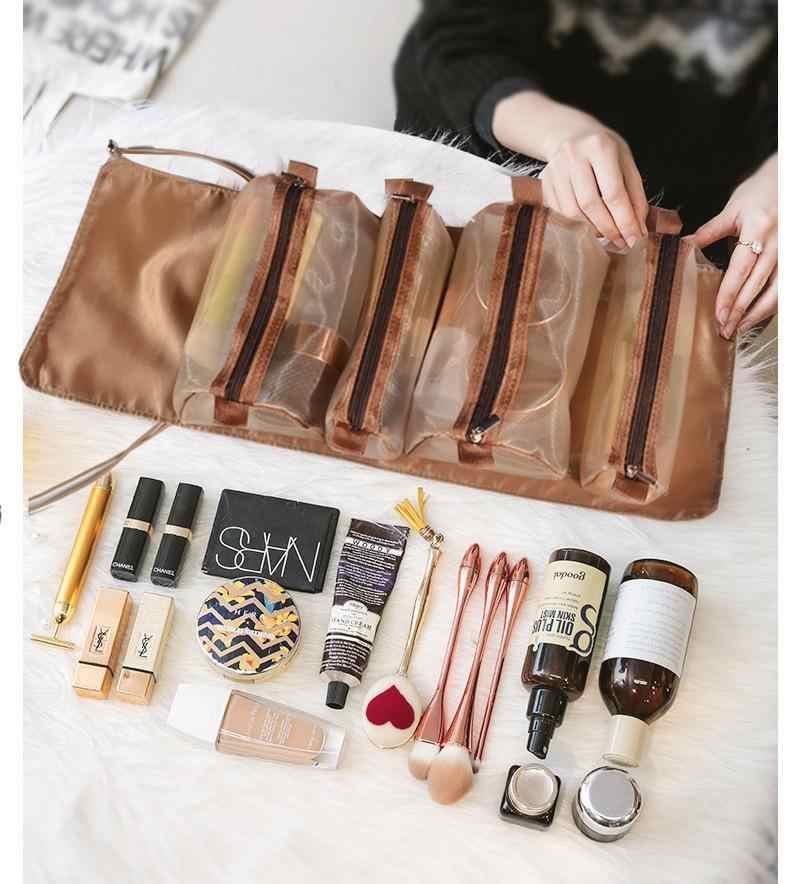 4 Stuks In 1 Cosmetische Tas Voor Vrouwen Rits Mesh Scheidbare Cosmetica  Pouch Dames Opvouwbare Nylon Tas Touw Make Up Tas kosmetyczka|Cosmetische  tas & Koffers| - AliExpress
