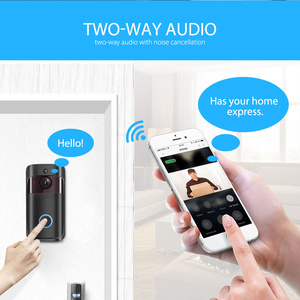 Image 2 - IP וידאו אינטרקום WI FI וידאו דלת טלפון דלת פעמון 720P WIFI פעמון מצלמה עבור דירות IR מעורר אבטחה אלחוטית מצלמה