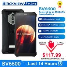 Blackview bv6600 8580mah bateria smartphone ip68 à prova dip68 água 4gb + 64gb octa núcleo celular 16mp câmera nfc