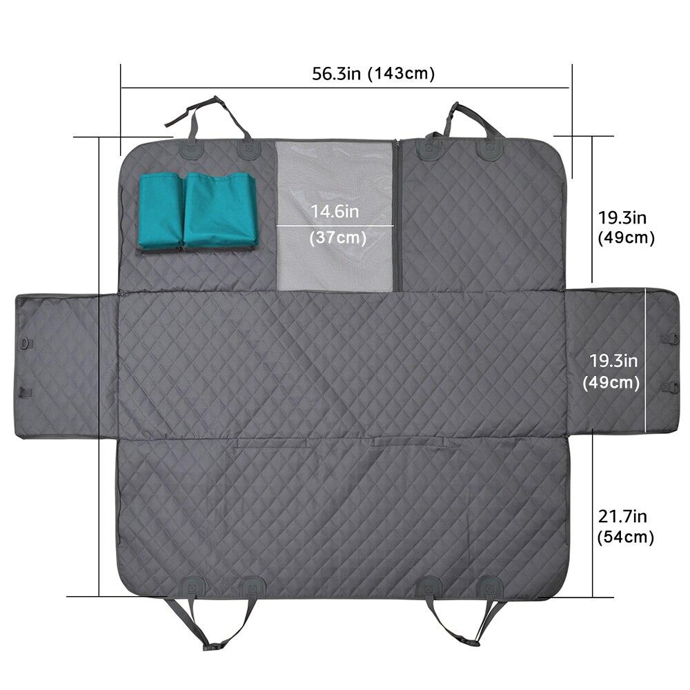 carro traseiro do assento esteira hammock coxim protector com zíper e bolsos