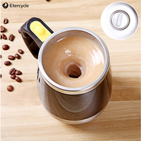 High end automatic stirring Spin cup Coffee / Juice / Milk stainless steel Stir quickly Magnetized cup Quality Home Supplies Mug|Mugs| |  -