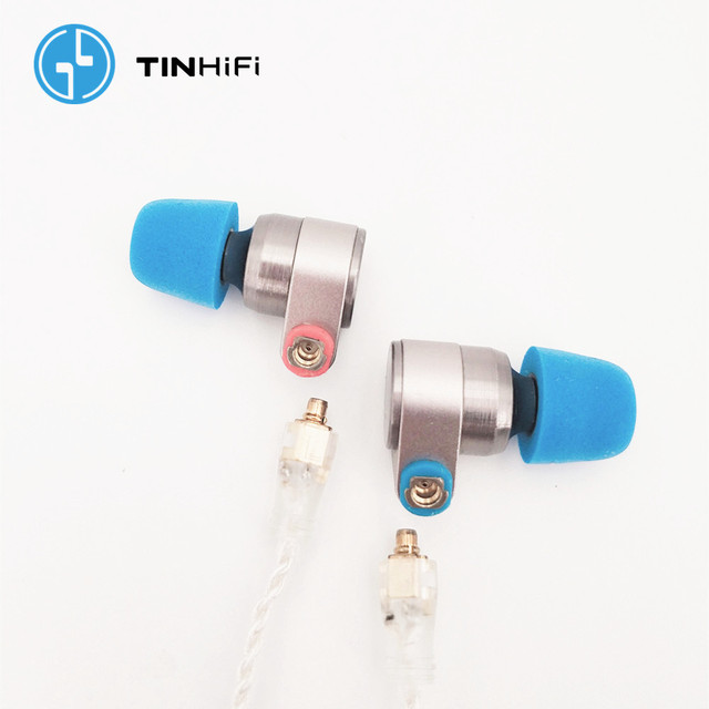 TINHIFI T2 2DD Double Dynamic Drive in Ear Earphone HiFi Bass DJ Metal headsets 3.5mm MMCX Cable Tin T1 T2 PRO T3 P1 24h ship 3