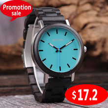 BOBO BIRD Promotion Wood Watch Customized For Him Anniversary Christmas Gifts in Box Wristwatch wood strap