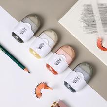 JIANWU Creative Single Hole Pencil Sharpener Eraser Two in one Multifunctional Office Stationery Mini Cute School Supplies