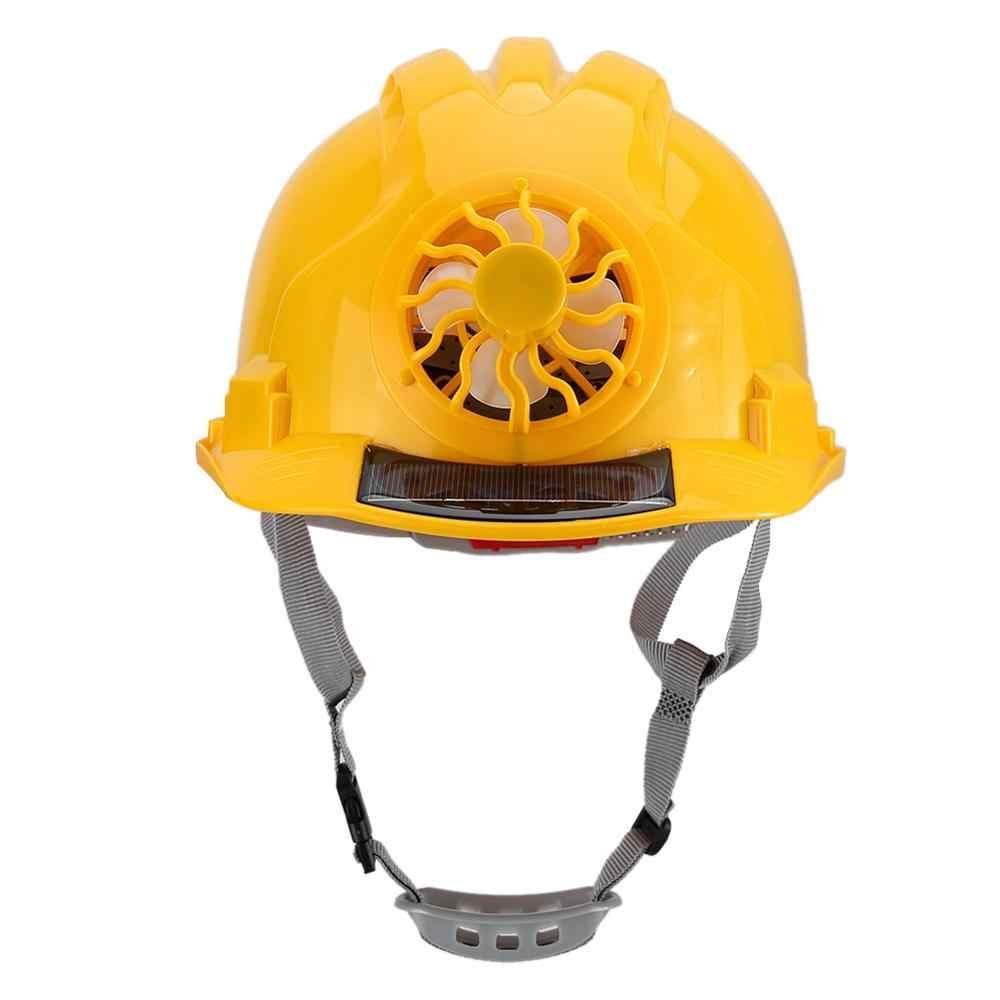 Outdoor Cycling Helmet,Ventilate,Helmet for Sanitation Worker Hard Hat Helmet Construction Safety Helmet fayle Safety Helmet with Solar Powered Cooling Fan