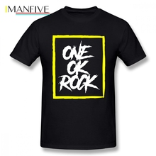 One Ok Rock Popular T Shirt Boyfriend Men T Shirt Cotton Crewneck Plus Size Short Sleeve Custom Men T-shirt цена и фото