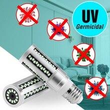 E27 UV Sterilizer Ozone Lamp 15W 20W Disinfection Corn Bulb Timing Remote 110V 220V Germicidal Light LED Bactericidal