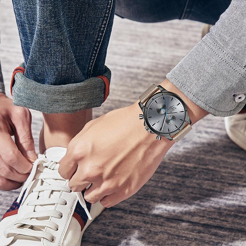 2020 New Men Watch LIGE Brand Fashion Sports Quartz Watches Mens Waterproof Chronograph Clock Military Watches Relogio Masculino